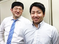 http://iishuusyoku.com/image/いい就職プラザを通じて入社された先輩(写真右)と、教育担当の先輩です(写真左)。