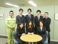 http://iishuusyoku.com/image/「誠実」「挑戦」「成長」「チームワーク」 若手からベテランまで揃い、その結束力は強い。