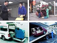 社用車に最適な機器を積み込み、お客さま先を訪問します。実演を交えながらお客さまに合わせた商品を提案します。