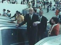 1970年の大阪万博では、エレベーター、エスカレーター、オートロード(動く歩道)をはじめ、舞台機構やジェットコースターなど各種機械を多数導入!