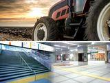 https://iishuusyoku.com/image/建設機械・農業機械などの部品や、商業施設や駅構内の床材、点字タイルなど、実は「ゴム」や「樹脂」は、私たちの身近にあるさまざまな場所で活用されています!