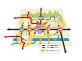 https://iishuusyoku.com/image/国、地方公共団体、市民・民間等の顧客ニーズに応えています。これは同社でお手伝いした地域公共交通網形成計画における公共交通体系のイメージです。