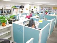 移転したばかりのオフィス。各設計技師が、集中して設計に取り組めるように造られた空間です!