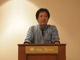 https://iishuusyoku.com/image/部長からの熱いスピーチの一場面。社員一同、熱心に聞き入っていました。当社では機会あるごとに会社の方針を全社員で共有しています。