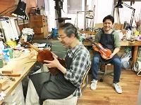 専属の職人による楽器のメンテナンス、アフターサービスを手掛ける工房も併設しています。