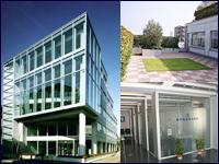 勤務地となる高円寺にある本社ビル。デザイン性溢れるガラス張りの建物の屋上には、屋上庭園もあるんです!