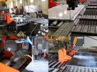 鉄を曲げる機械、巨大な重量の鉄の塊を落とさず運ぶ器具、工作機器に付随する消耗品…。同社が日本のものづくりを支えています!