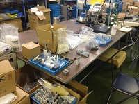 https://iishuusyoku.com/image/国内ではじめて樹脂製のベアリングを作成しました。この技術を用いることで、①コスト削減、②サビ付き防止、③騒音防止が叶います。