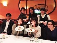 https://iishuusyoku.com/image/スタッフの誕生日を、代官山の有名フレンチでお祝い♪誕生日を祝ってくれる仲間がいるって嬉しいですよね。