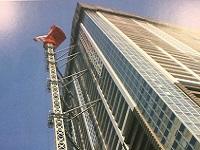 国内20階建て以上のビルの建設の際に使用されるタワークレーン用「壁つなぎ」は国内トップシェア!