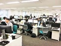 2016年に移転した本社オフィス。見晴らしの良い快適な環境、ビル内には社員食堂もあります!