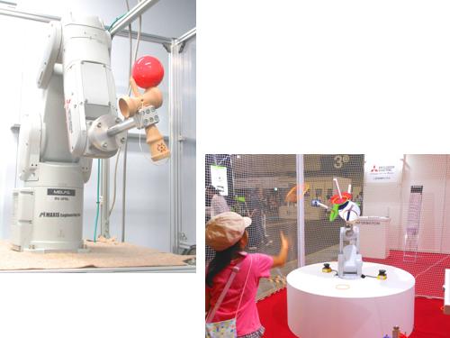 TV番組で紹介され話題となっている「けん玉ロボット」や製造現場で活躍する専用機など、世界に真似できないモノづくりを実現しています。