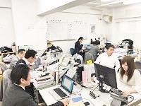 活気のある社内。忙しい営業に代わり、社内でしっかりと業務をサポートしてくださいね!