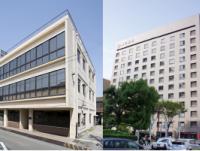 左は同社の長い歴史の発祥の地『一宮本店』、右は本社機能を持つ『名古屋支店』です。平成12年には全国の営業所・出張所は移転と新設を完了し、全て「支店」昇格しました。