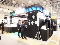 年に数回、展示会にも出展しています。同社の紹介する最先端のシステムには、多くの関心が寄せられています。