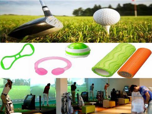 国内外の有名ブランドのゴルフ商品をはじめ、最近ではゴルファー以外の方にも使っていただける健康器具やストレッチ器具も扱っています。