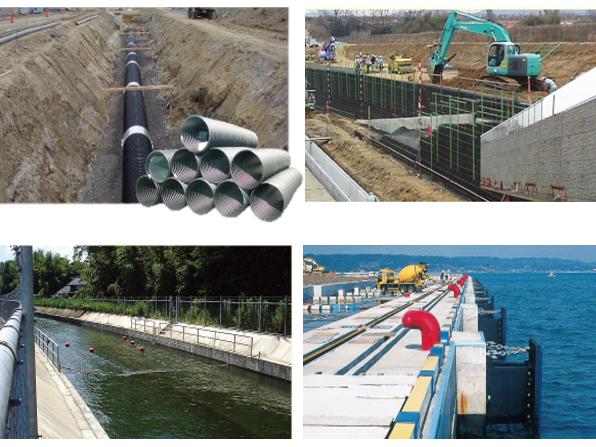 同社が扱う商材は、道路、橋、トンネル、ダム、港湾の岸壁など、一般の人には見えにくい場所や施設などに使われていますが、都市の基盤を支える需要な役割を果たしています。