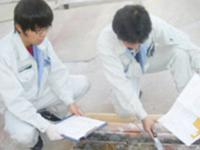 https://iishuusyoku.com/image/ボーリングで採取した土壌は、まずは現場で簡単な分析をします。