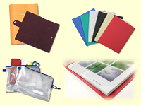 有名メーカーの手帳ケース、デザインステーショナリーメーカーのプラスチック文具も、同社が手掛けています!