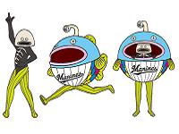 https://iishuusyoku.com/image/千葉ロッテマリーンズに、ある日突然現れたマスコットキャラの『謎の魚』。大人気のキモキャラデザイン、実は同社が手掛けたものなんです!