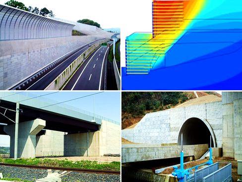 国内唯一の「補強土」に特化した専門建設コンサルタント会社!高速道路、橋梁、鉄道、ダム、ビル建設など、「まちづくり」に関わるスケールの大きな仕事があなたを待っています!