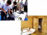 https://iishuusyoku.com/image/木材に塗料を塗っているところです。防カビ!防汚!防虫!防腐!など、さまざまな効果があります。
