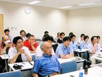 https://iishuusyoku.com/image/4ヶ月に1回開催している全社員対象の業務報告会。各プロジェクトの進捗や会社方針などを共有する場です。