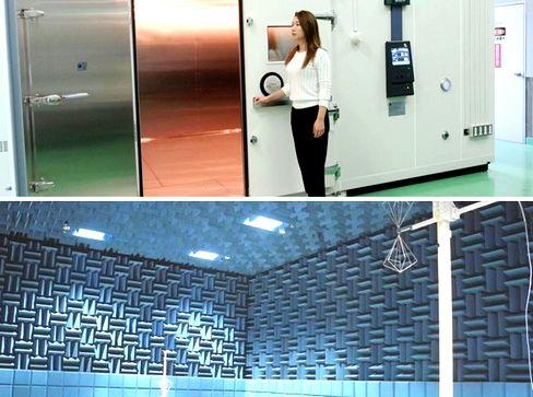 https://iishuusyoku.com/image/クルマ1台がすっぽり入ってしまうほど大きな試験所も保有。機器本体が発する電磁波と、外部からの電磁波が機器にどんな影響を与えるかなども調べることができます。